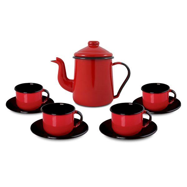 165.004-Conjunto-de-café-Vermelho